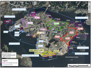 PNSY Toxic Sites Map, image courtesy of the US Navy